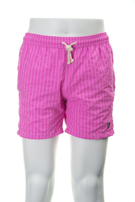Tiki zwembroek Ibiza 38cm streep rosa fluor