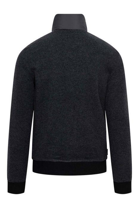 Woolrich Bonded Full Zip Dons Gevoerd zwart