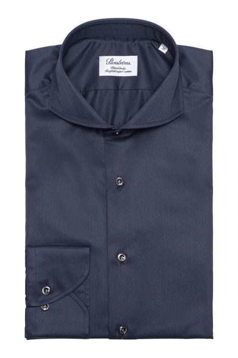Stenstroms Overhemd 2 Ply Full Spread Donkerblauw