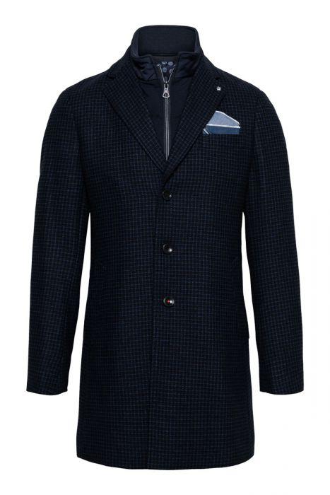 Blue Industry Coat Zip Wolmix