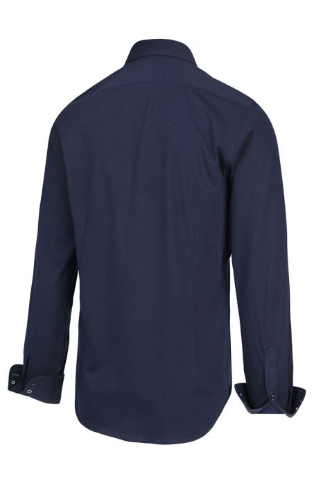 Blue Industry Overhemd Katoen Perfect Fit Jersey