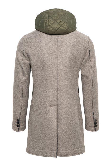 BOB Neopreen Coat 65% Polyacryl 20% Polyester 15% Wool Beige