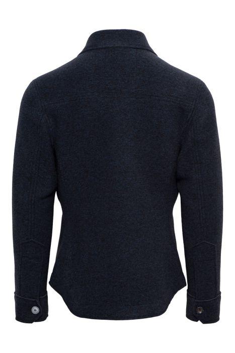 BOB Overshirt Neopreen 48 % Polyester 32% Polyacryl Staalblauw
