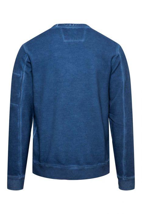 CP Company Sweater Crew Neck Piece Dyed inktblauw