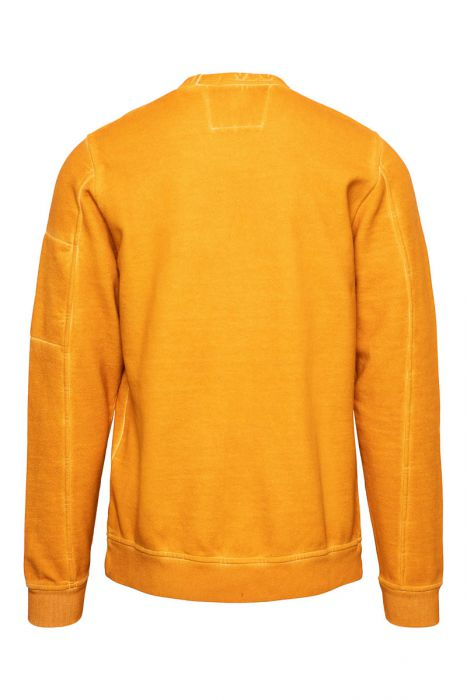 CP Comapany Sweater Crew Neck Piece Dyed oranje