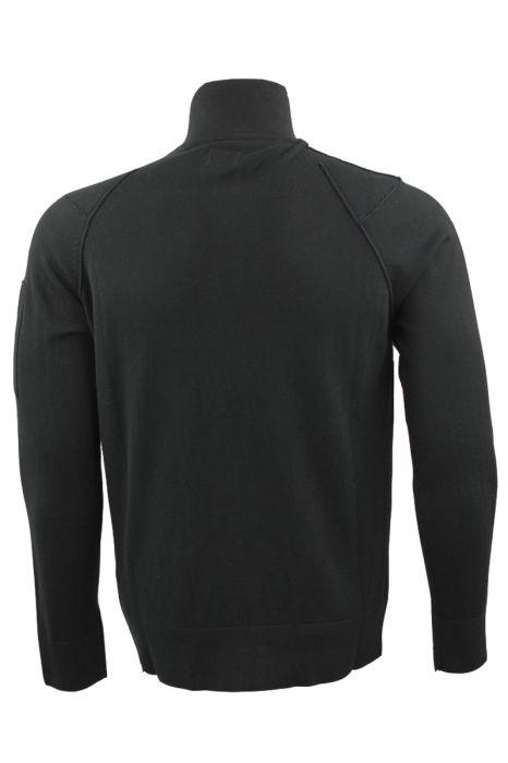 CP Company Cardigan Zip Polokraag Zwart