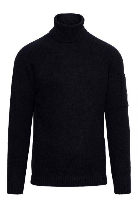 CP Company Koltrui Wool Mix Fleece Knit zwart