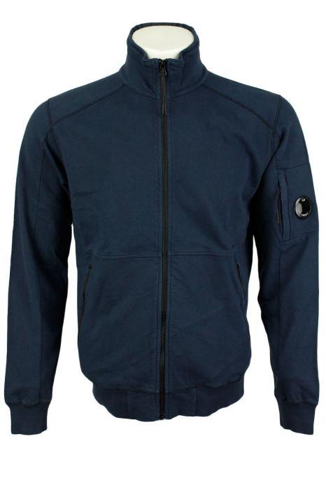 CP Company LIght Fleece Poloneck Katoen Zip