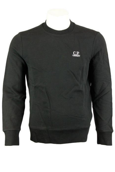 CP Company Raised Fleece Crew Neck Logo