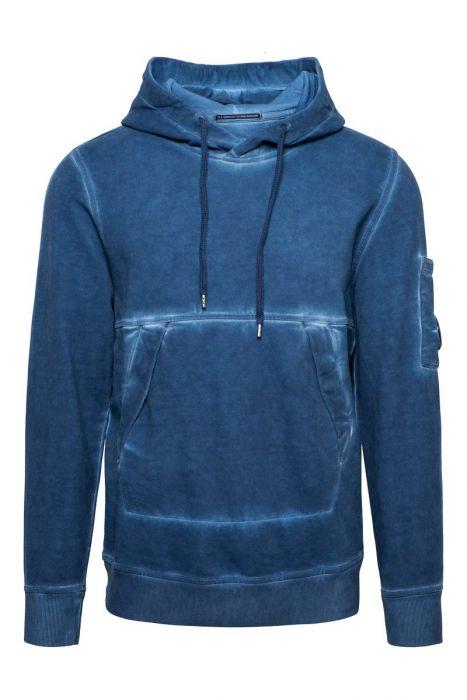 CP Comapany Sweater Hoody Cotton Fleece Piece Dyed