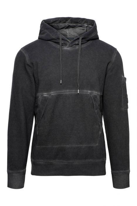 CP Company Sweater Hoody Cotton Fleece Piece Dyed