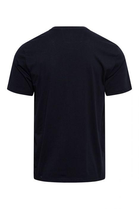 C.P. Company T-Shirt 100% Cotton Logo Print Blauw