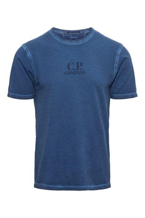 C.P. Company T-Shirt Garment Dyed 100% Cotton Inktblauw