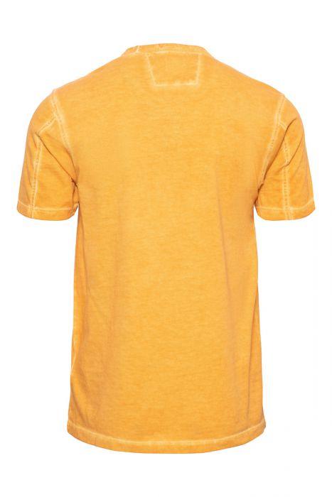 C.P. Company T-Shirt Garment Dyed 100% Cotton Oranje
