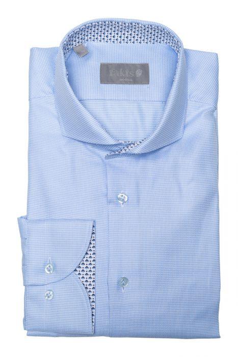 Fakts overhemd in lichtblauw met een hele fijne structuur