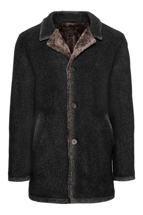 Gimos Coat Gewassen Wool Polyamide Teddy Lining
