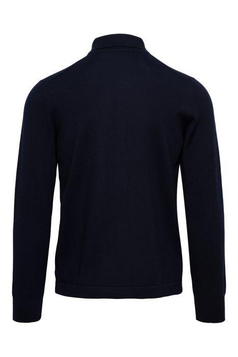 Gran Sasso 100% Merino Vest/Overshirt Polo Kraag