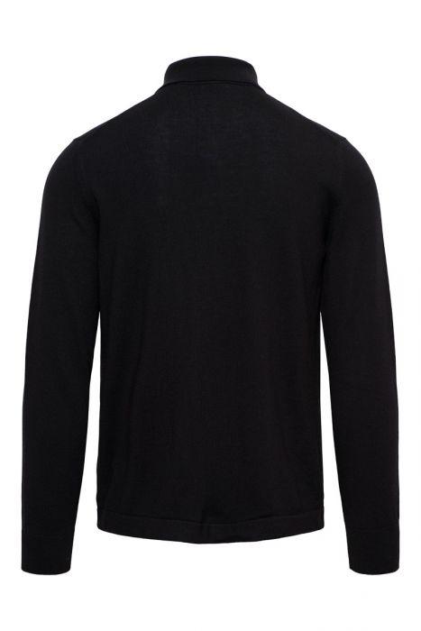 Gran Sasso Knoop Vest Met Polo Kraag Zwart