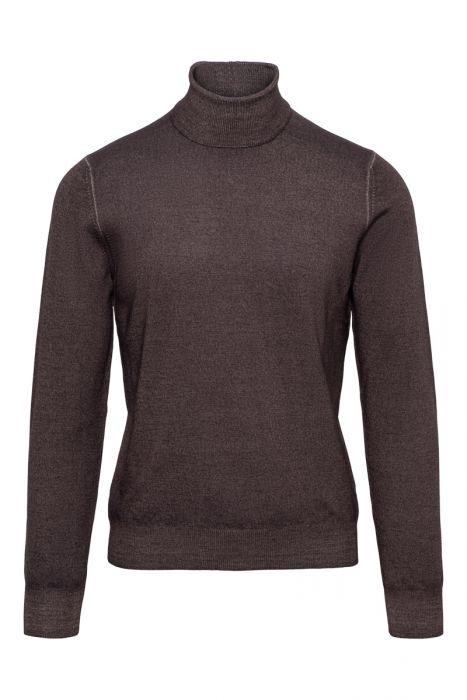 Gran Sasso Trui 100% Wool Donkerbruin