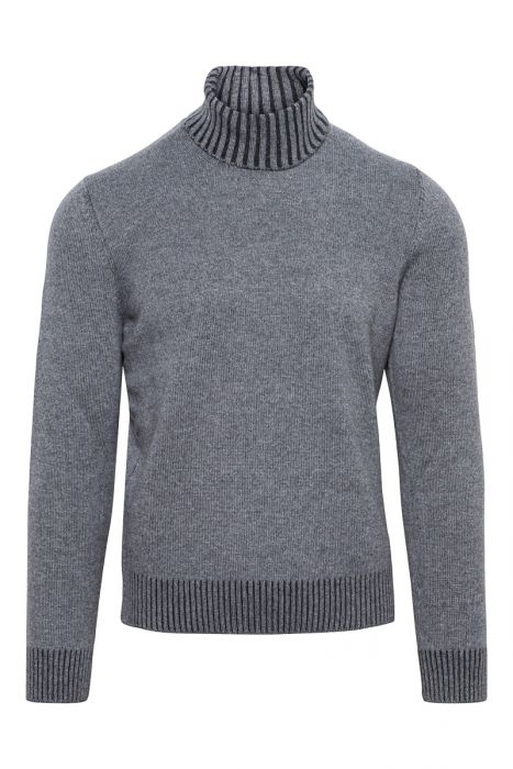 Gran Sasso Trui 80 % Wool 20% Cashmere Middengrijs