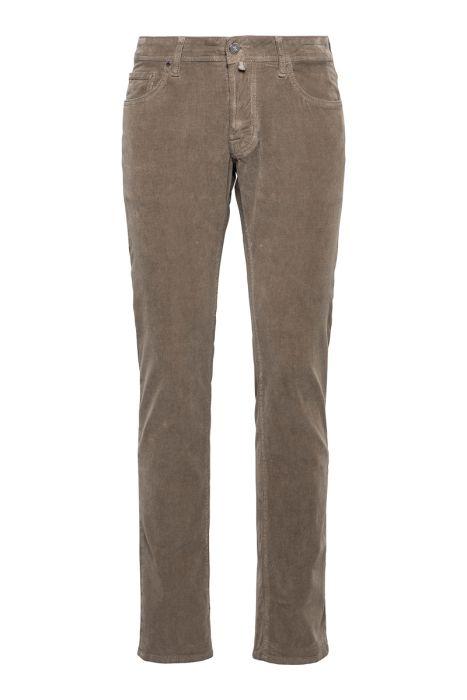 Jacob Cohën Jeans 622-Nick Comf Corduroy 98% Cotton 2% Elastaan Beige Taupe
