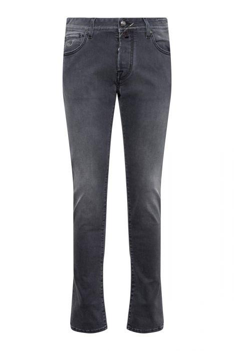 Jacob Cohen Jeans 622-Nick Super Slim Comf donkergrijs
