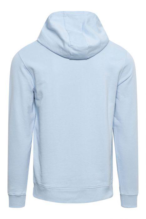 Lyle & Scott Hoodie Sweater Cotton Fleece Lichtblauw