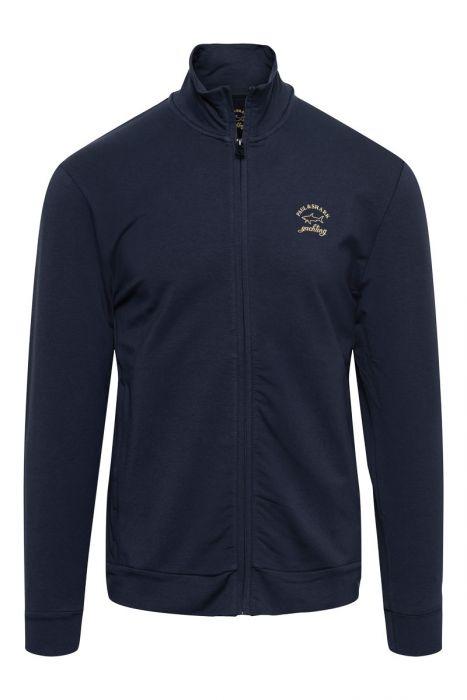 Paul & Shark Sweater Vest zip Reflective Logo Cotton mix Stretch.