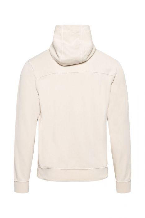Stone Island Hoodie 60151 Cotton Fleece 100% Katoen Beige