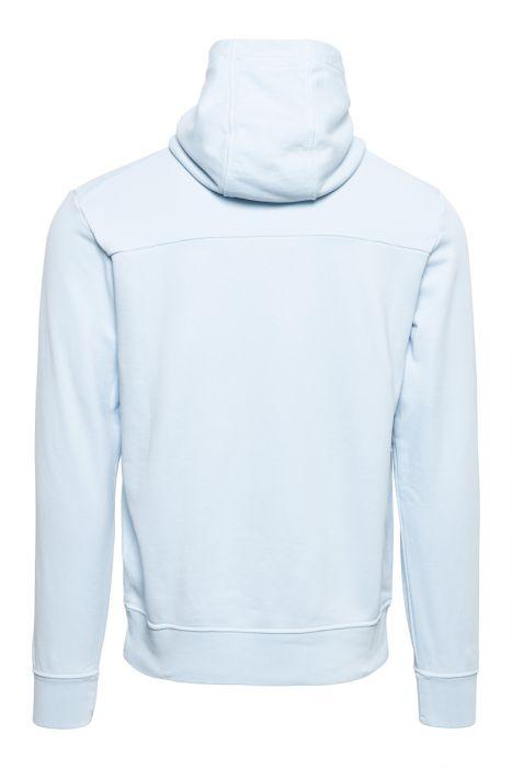 Stone Island Hoodie 60151 Cotton Fleece Hoody 100% Katoen Lichtblauw