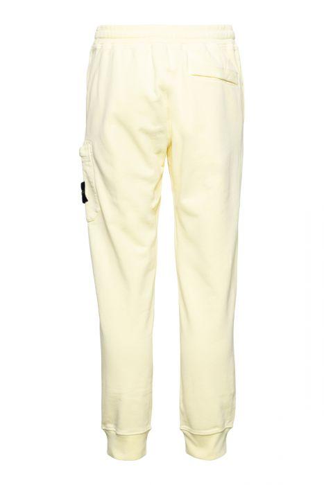 Stone Island Cotton Fleece Pants 100% Katoen Geel