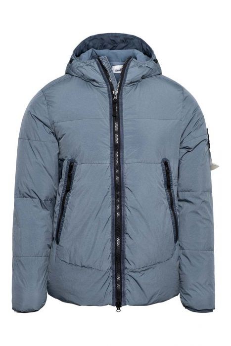 Stone Island Jas 40123 Jack Garment Dyed Crinkle Reps NY Down Grijs