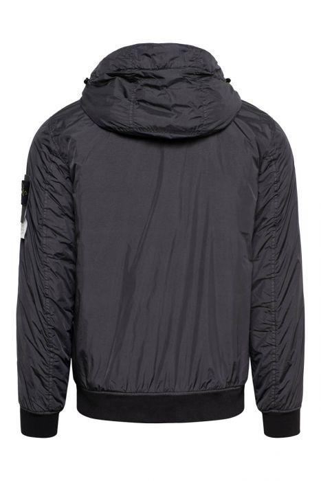 Stone Island Jas 42223 Crinkle Reps NY Garment Dyed Jack with Primaloft -TC Antraciet