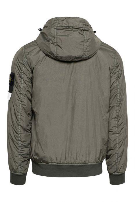 Stone Island Jas 42223 Crinkle Reps NY Garment Dyed Jack with Primaloft -TC Bottle green