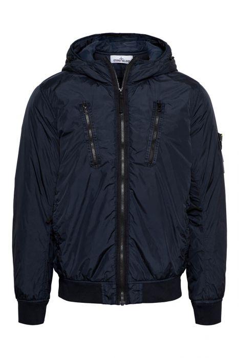 Stone Island jas 42223 Crinkle Reps NY Garment Dyed Jack with Primaloft -TC Donkerblauw