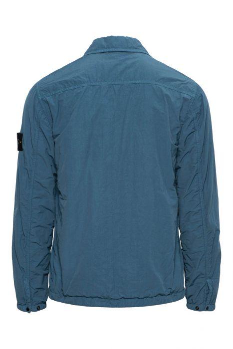 Stone Island Shirt 11803 Gevoerd Overshirt 100% Polyamide Staalblauw