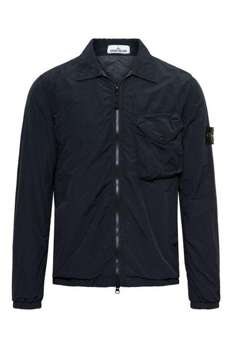 Stone Island Shirt 11803 Gevoerd Overshirt 100% Polyamide Zwart
