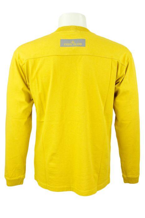 Stone Island T-Shirt 20244 Lange Mouw Geel