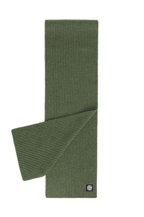 Stone Island Sjaal N15B5 Scarf 100% Wol grijs Olive