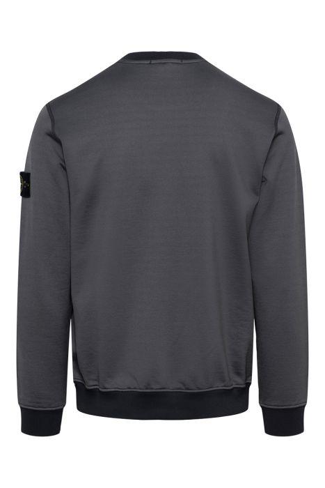 Stone Island Sweater 63547 Crew Neck Cotton mix antraciet