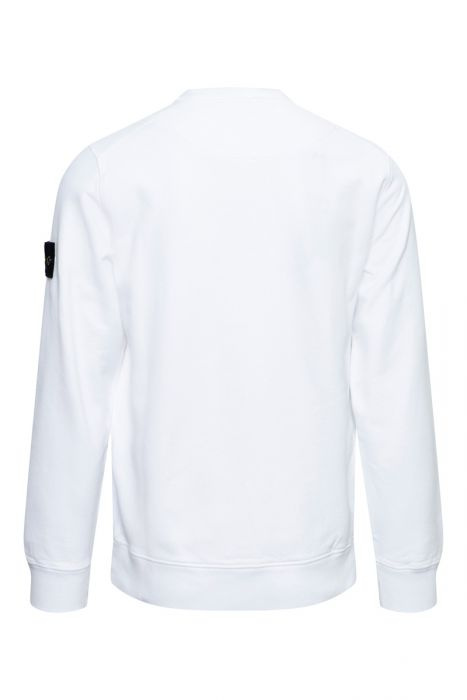 Stone Island Trui 63020 Sweater Crew Neck 100% Katoen Wit
