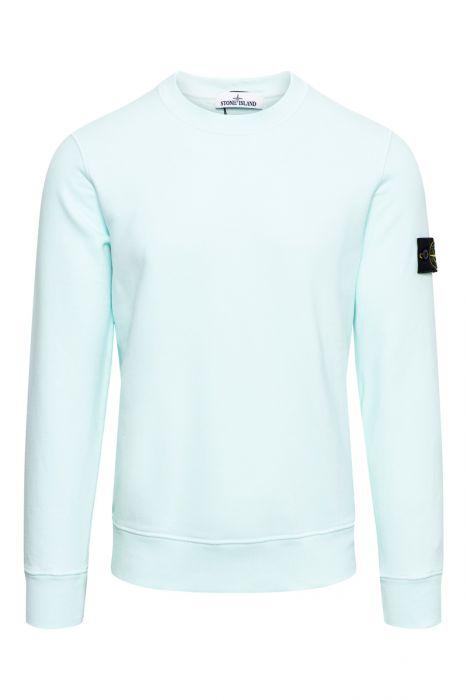 Stone Island Trui 63020 Sweater Crew Neck 100% Katoen Turquoise