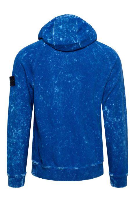 Stone Island Sweater Hoodie 61338 Cotton Dust Kobaltblauw