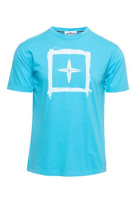 Stone Island T-Shirt 100% Katoen Print