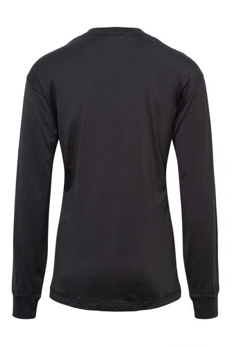 Stone Island T-Shirt 22713 Lange Mouw Gemerceriseerd Antraciet
