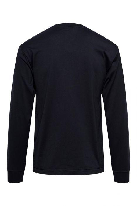 Stone Island T-Shirt 22713 Lange Mouw Slim fit Cotton Gemerceriseerd Donkerblauw