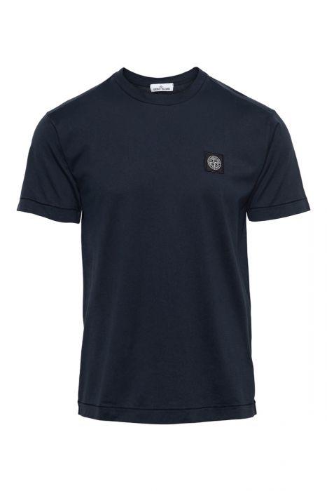 Stone Island T-Shirt 24113 100% Katoen Gemerceriseerd Donkerblauw