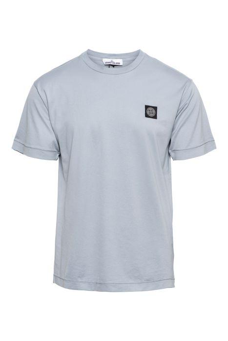 Stone Island T-Shirt 24113 Korte Mouw Slim fit Cotton Lichtgrijs