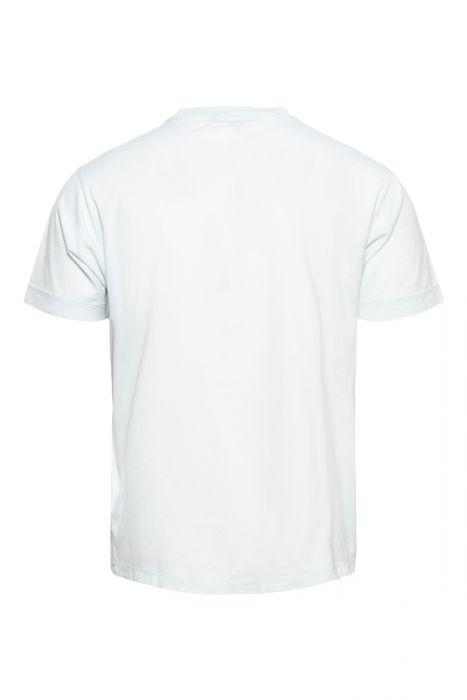 Stone Island T-Shirt 24113 Korte Mouw Slim fit Cotton Lichtgroen