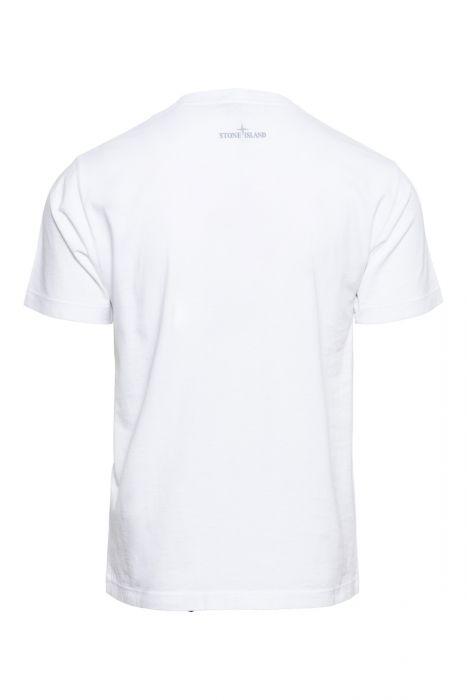 Stone Island T-Shirt 2NS89 Korte Mouw Cotton Print Wit